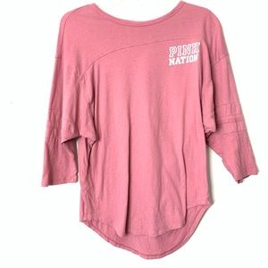 Pink by VS pink 3/4 sleeve top